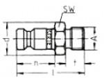 Наличие на складе ниппелей без клапанов LP-006 из оцинкованной стали, наружная дюймовая резьба G