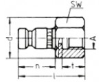 Наличие на складе ниппелей без клапанов LP-006 из нержавеющей стали, внутренняя дюймовая резьба G по DIN ISO 228