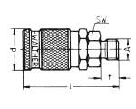 Наличие на складе муфт LP-006 из оцинкованной стали, наружная дюймовая резьба G