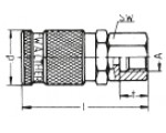 Наличие на складе муфт LP-006 из оцинкованной стали, внутренняя дюймовая резьба G по DIN ISO 228