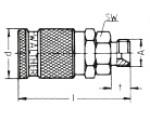 Наличие на складе муфт LP-006 из оцинкованной стали, наружная метрическая резьба M по DIN 7631