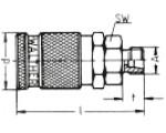 Наличие на складе муфт LP-006 из оцинкованной стали, наружная метрическая резьба M по DIN 2353