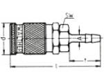 Наличие на складе муфт LP-006 из никелированной латуни, под шланг
