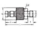 Наличие на складе ниппелей LP-006 из никелированной латуни, наружная дюймовая резьба G по DIN ISO 228