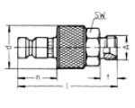 Наличие на складе ниппелей LP-006 из оцинкованной стали, наружная метрическая резьба M по DIN 7631