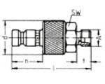 Наличие на складе ниппелей LP-006 из нержавеющей стали, наружная метрическая резьба M по DIN 2353