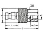 Наличие на складе ниппелей LP-006 из оцинкованной стали, внутренняя дюймовая резьба R по DIN ISO 228